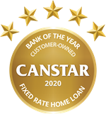 Canstar 2020 logo for Fixed Rate Home Loan
