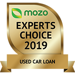 Mozo experts choice award for used car loans 2019.