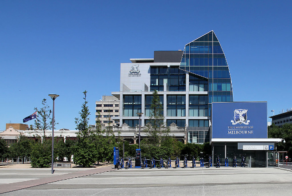 A picture of the main campus of Melbourne University