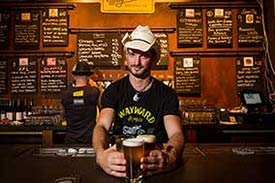 Picture of a guy that works at Wayward Brewery